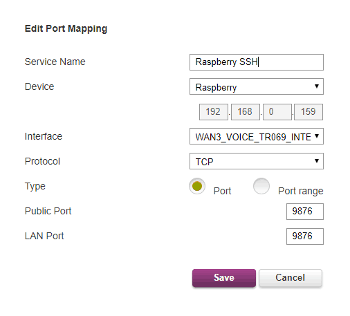 Port Mapping in Router 2