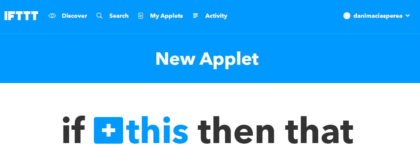 IFTTT New Applet to notify Raspberry Pi Security issues