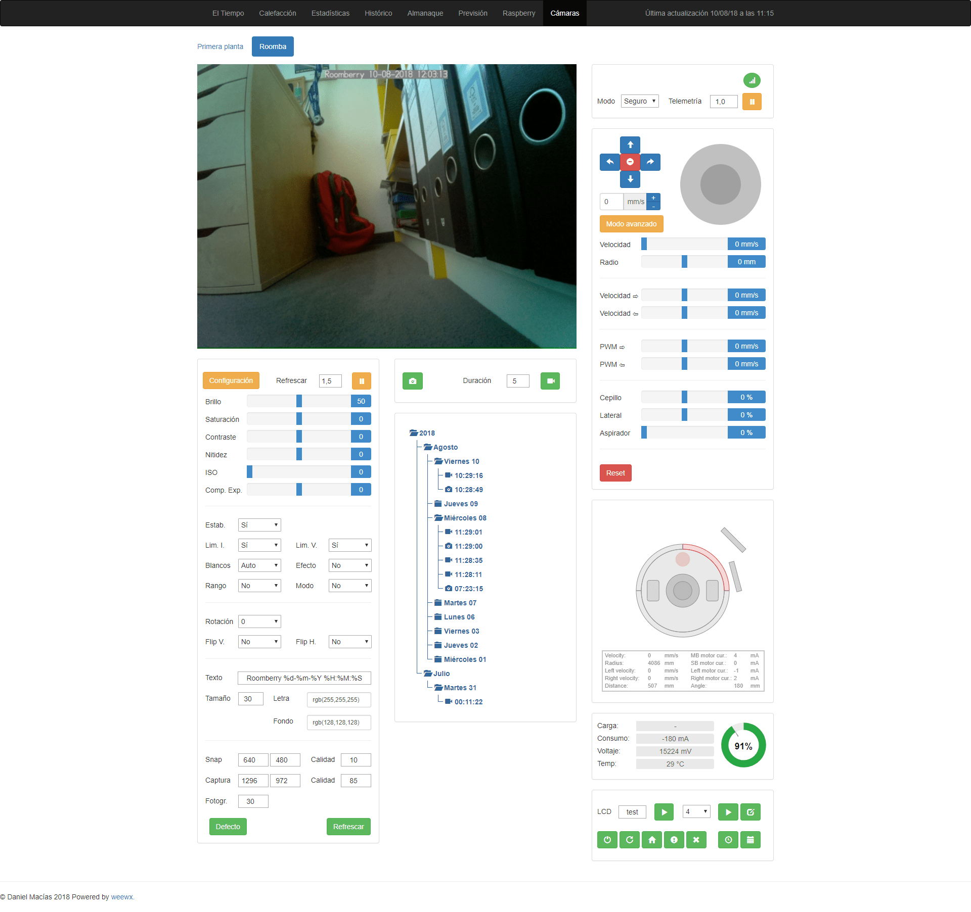 Roomberry Surveillance Robot: Roomba + Raspberry Pi Zero W +